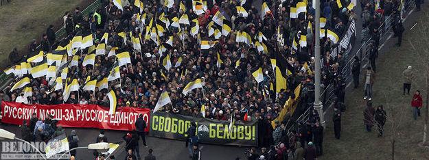 Русский Марш под лозунгом «Свободу Белову». Обзор акций в 34 городах