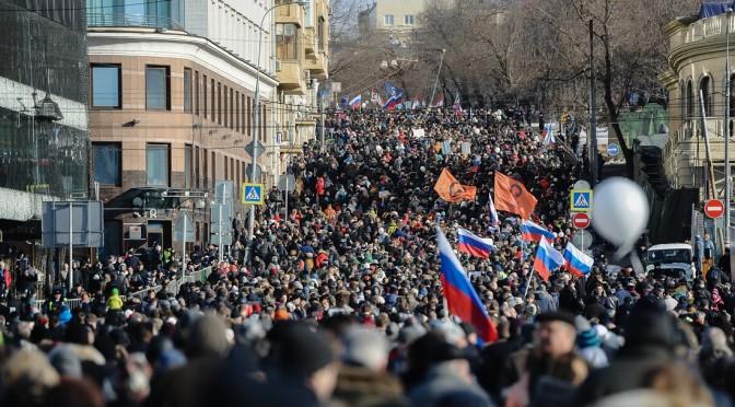 В Москве состоялся марш против политического террора, марш, который призывал поддержать Белов
